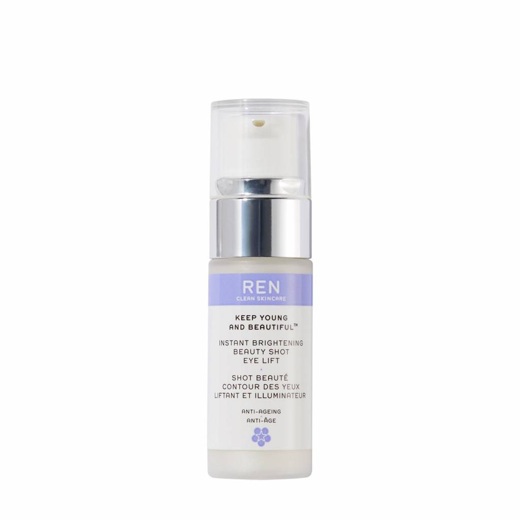 ren clean skincare keep young and beautiful instant brightening beauty shot eye lift 15 ml