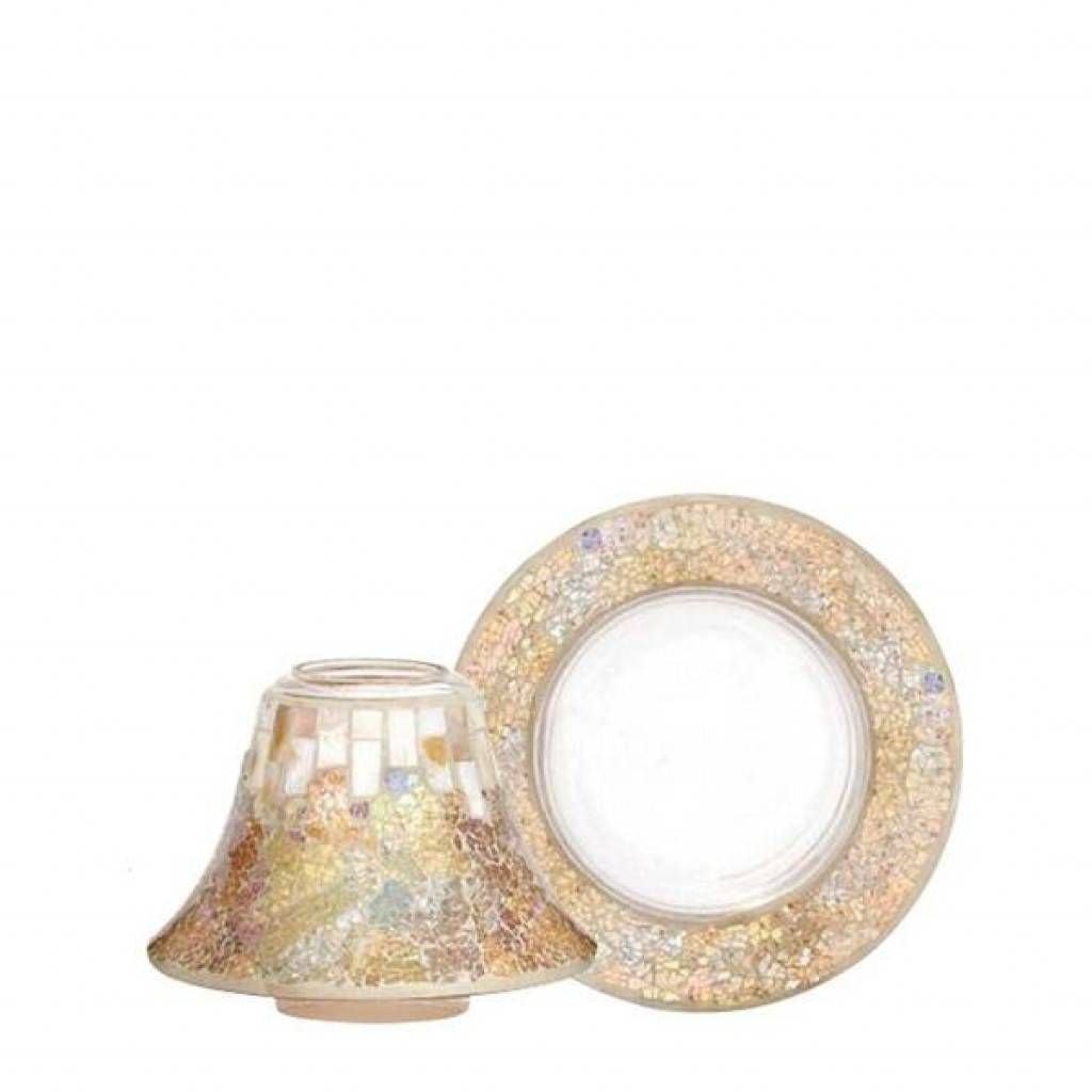 Yankee Candle Accessori Gold & Pearl Large And Shade Try