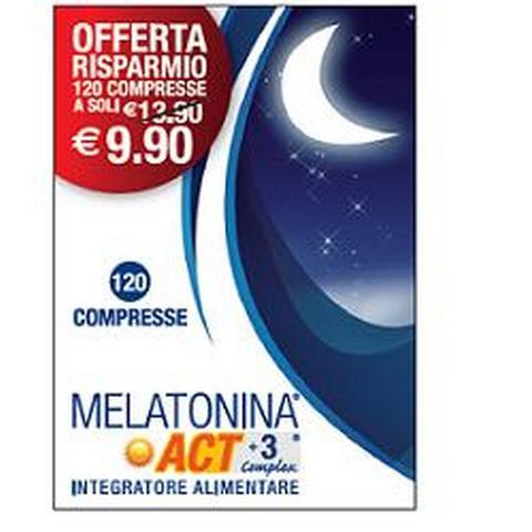 F&f Srl Melatonina Act1mg+3 Complex 120 Compresse