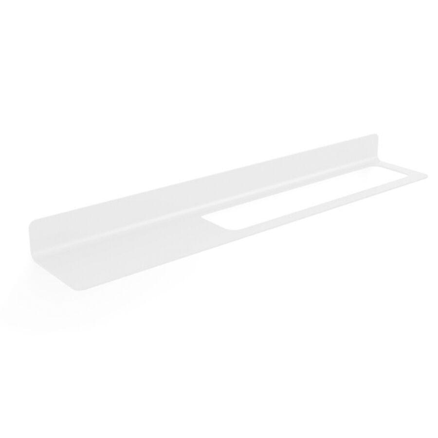 Lineabeta Mensola a Muro con Foro Porta Asciugamani a destra Lineabeta collezione Saeta in Alluminio Bianco