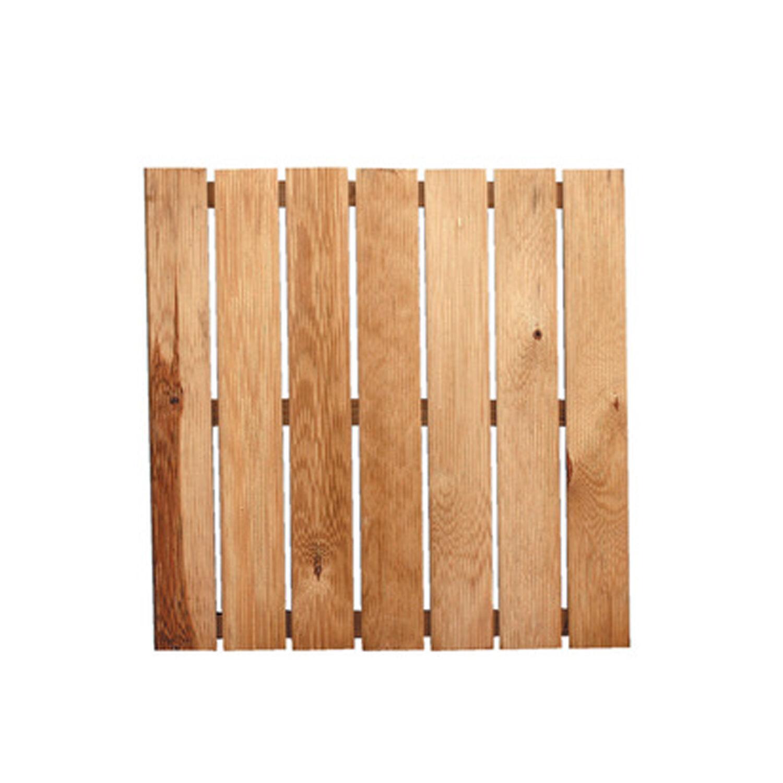 CeramicStore Pedana antiscivolo in legno di pino cm 50x50x3,2 h ideale per doccia da esterno