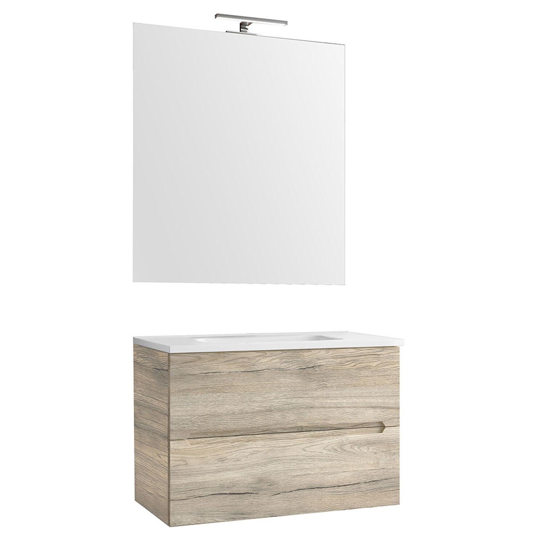 CeramicStore Mobile Bagno sospeso completo di lavabo, specchio e lampada linea Talia cm 70