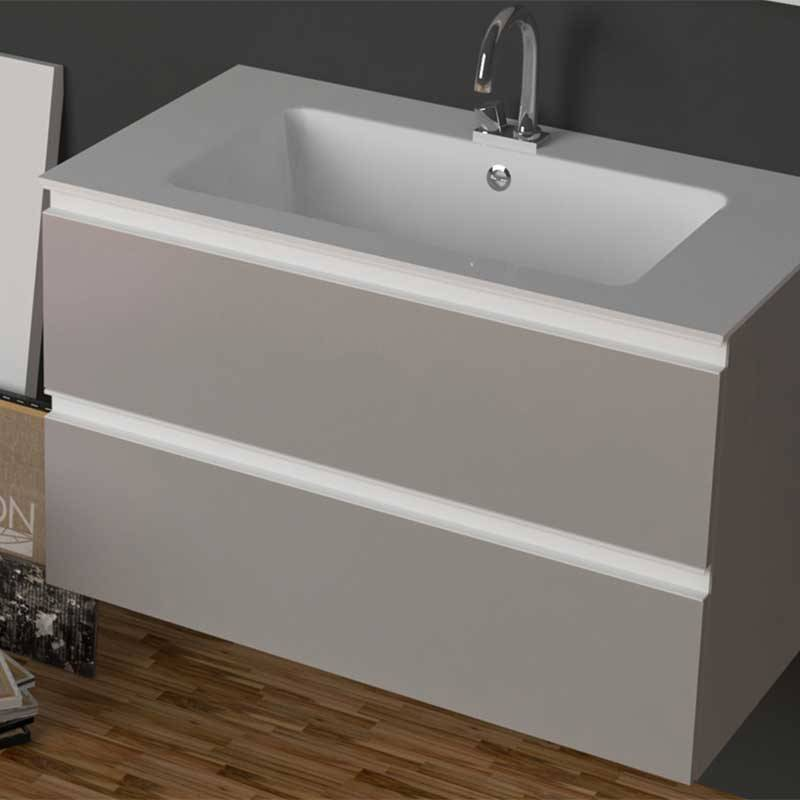 xilon s.r.l Mobile da bagno sospeso con lavabo in Ocritech da 73 cm Xilon Dedalo