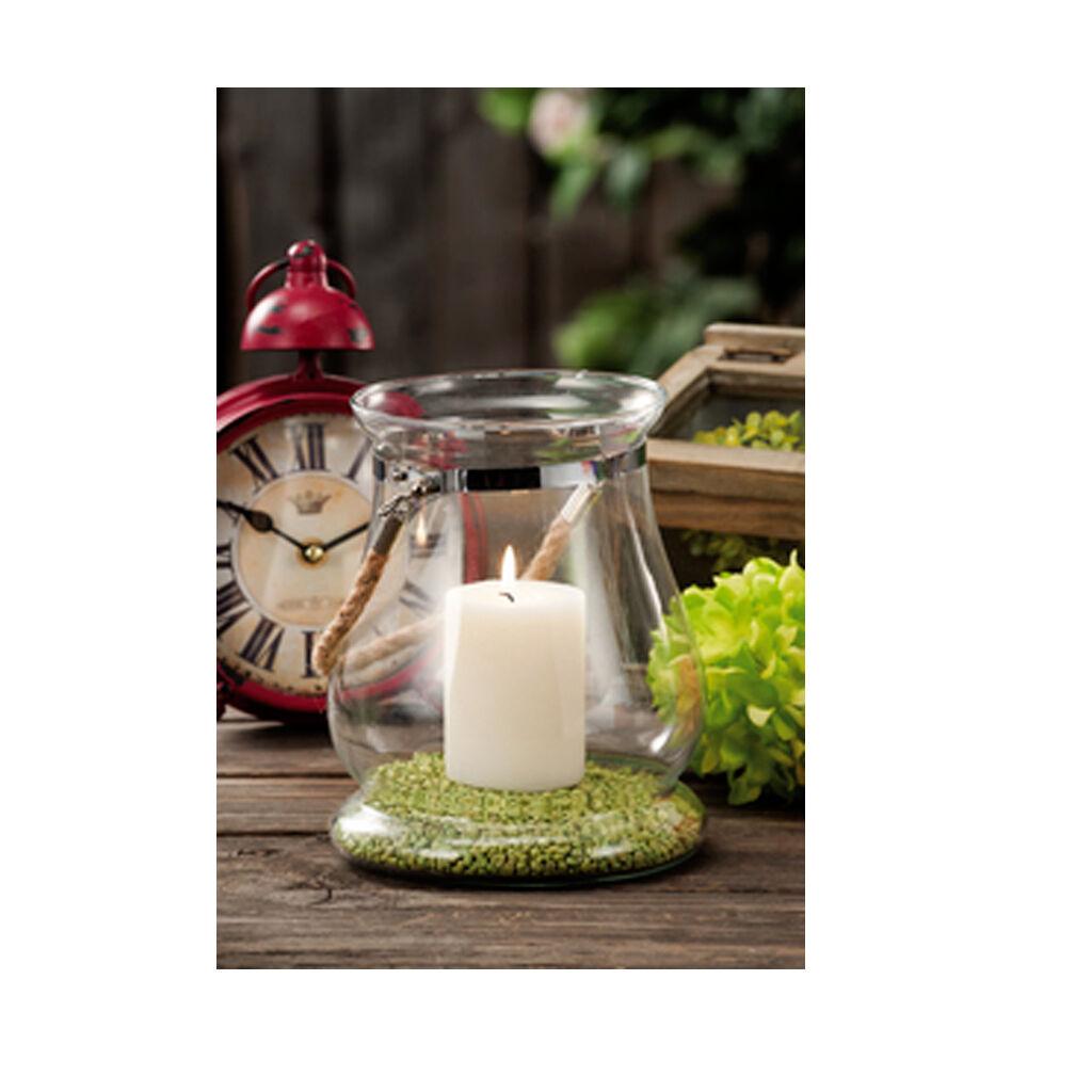 CeramicStore Lanterna portacandela in vetro diametro cm 15x19,5h