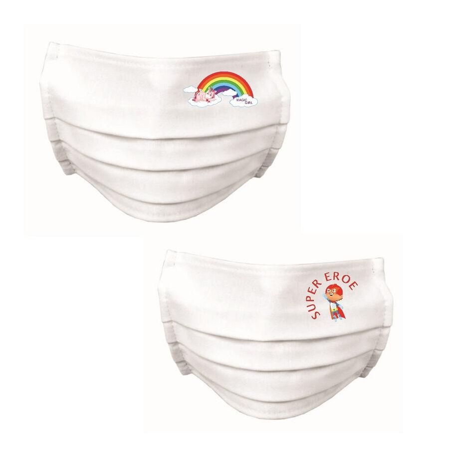 CeramicStore Mascherine protettive bimbi 3-6 anni in cotone 100% idrorepellente