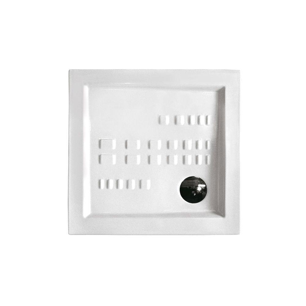 CeramicStore Piatto doccia quadrato Althea Ito 90x90 ceramica bianca foro diametro 85 mm