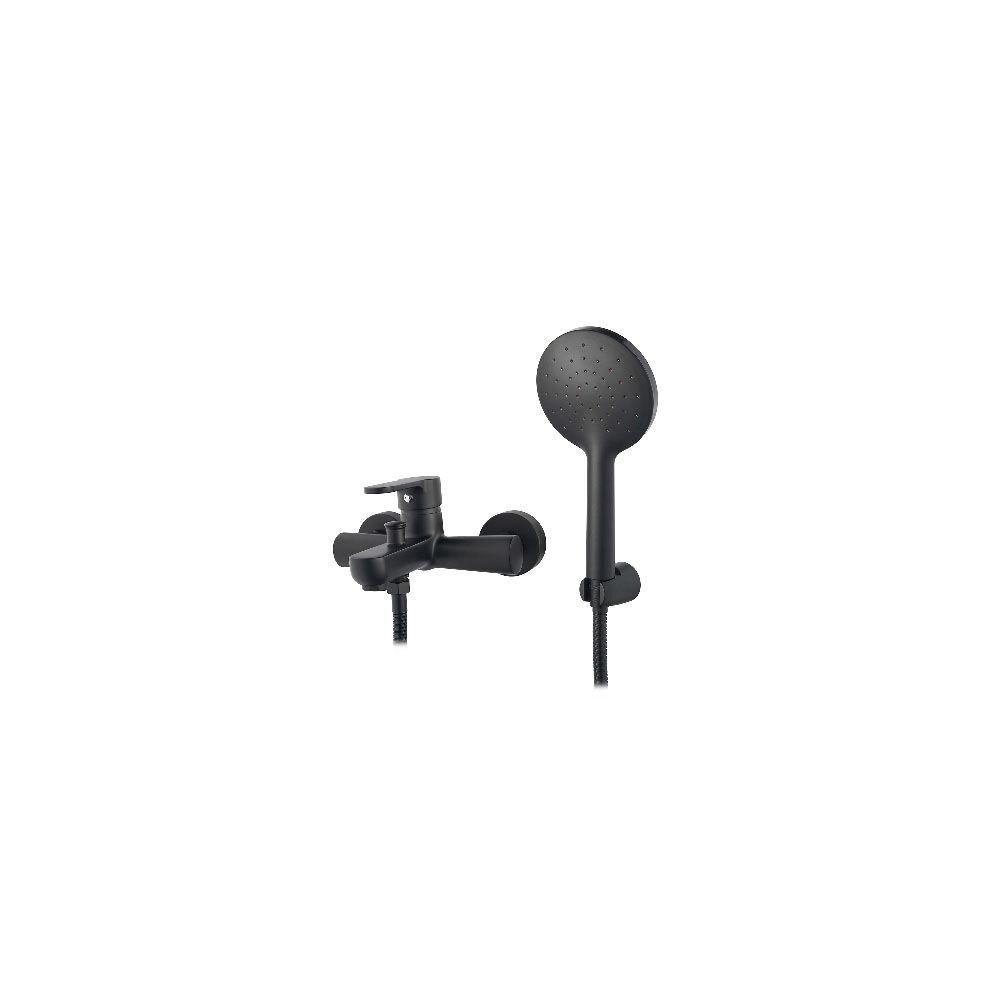 CeramicStore Miscelatore monocomando vasca nero opaco serie Paco con deviatore automatico