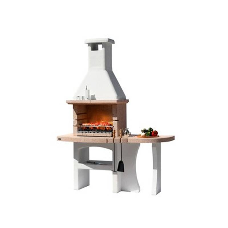 ceramicstore barbecue in muratura dubai crystal a legna piano cottura 60x40 cm