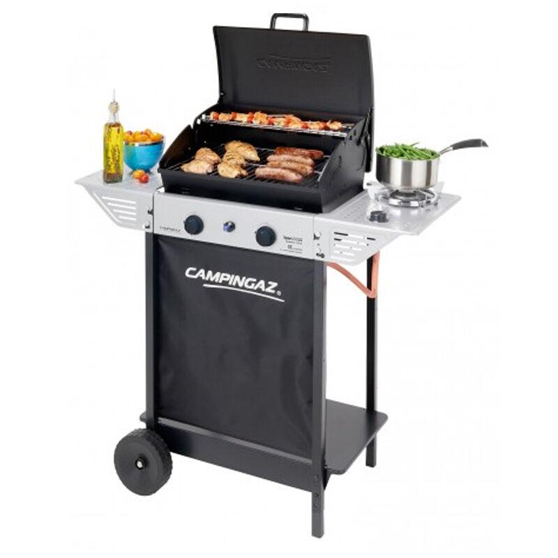 ceramicstore barbecue a gas in pietra lavica campingaz struttura in acciaio peso 17,5 kg