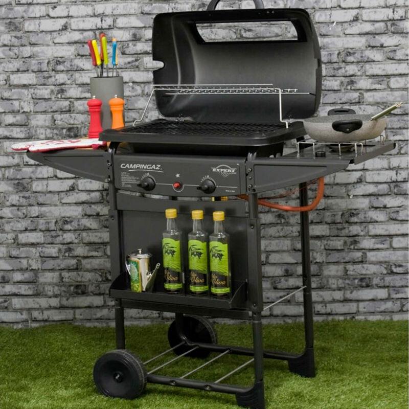 ceramicstore barbecue a gas in pietra lavica campingaz con 2 bruciatori in acciaio