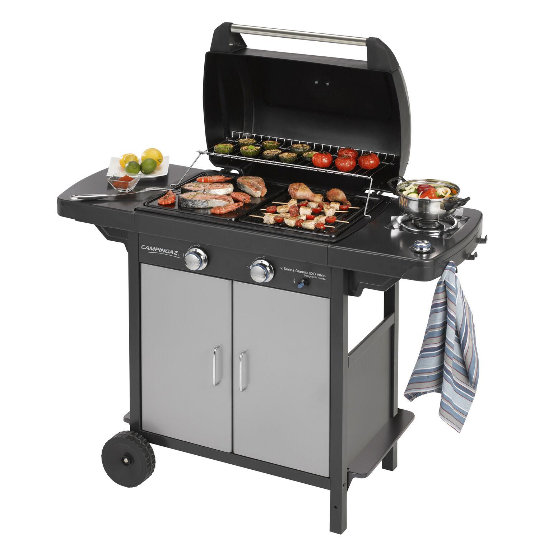 ceramicstore barbecue a gas campingaz con struttura in acciaio cm 127x54x108h