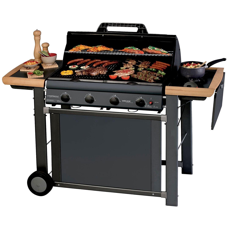 ceramicstore barbecue a gas adelaide 4 woody deluxe di campingaz con struttura in legno e acciaio