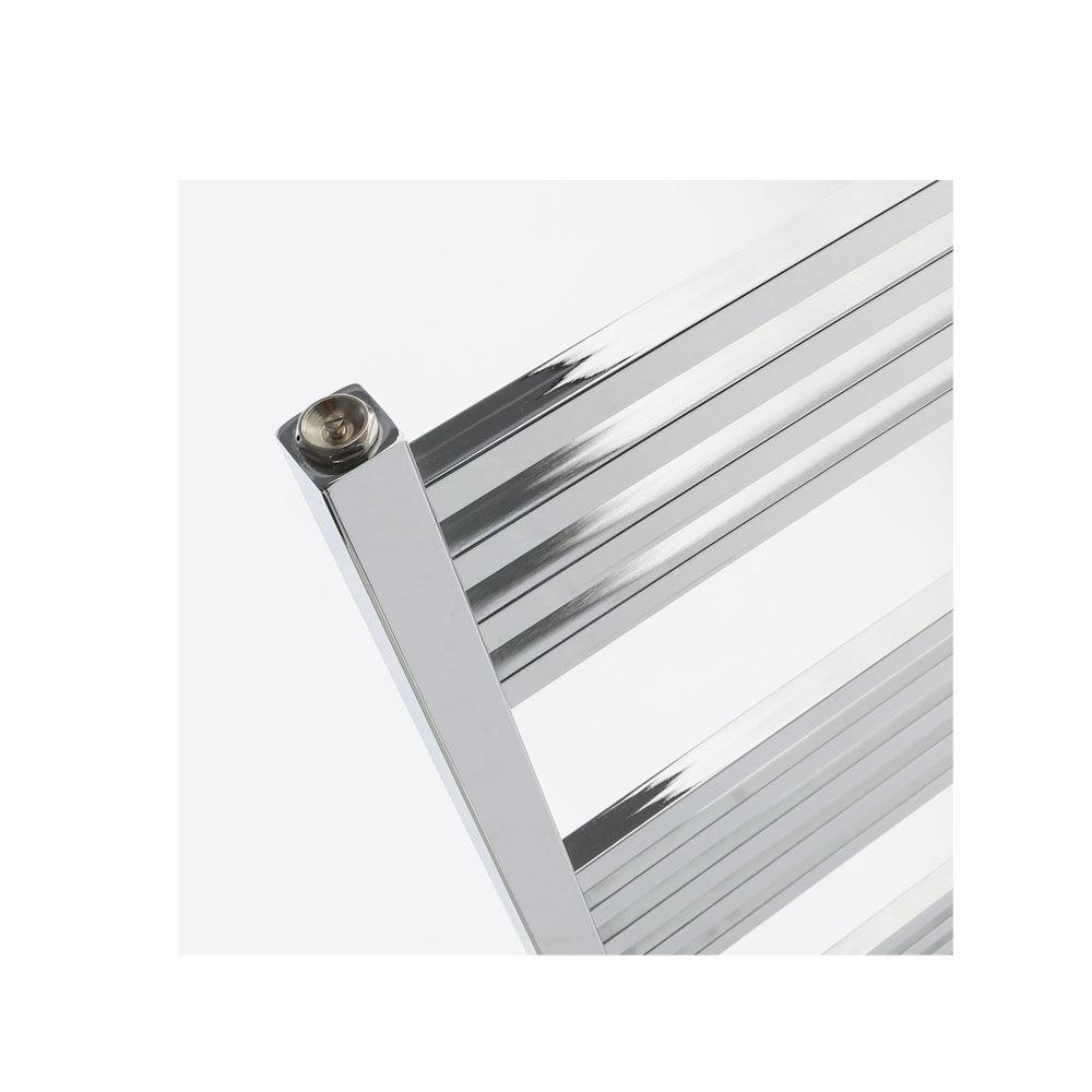 CeramicStore Termoarredo design cromo Aton tubi quadrati orizzontali altezza 1700 mm