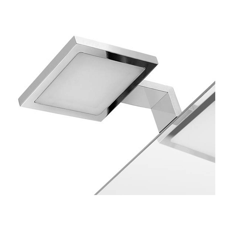 GEDY s.p.a. Lampada a led cromata con telaio di fissaggio per specchi senza cornire