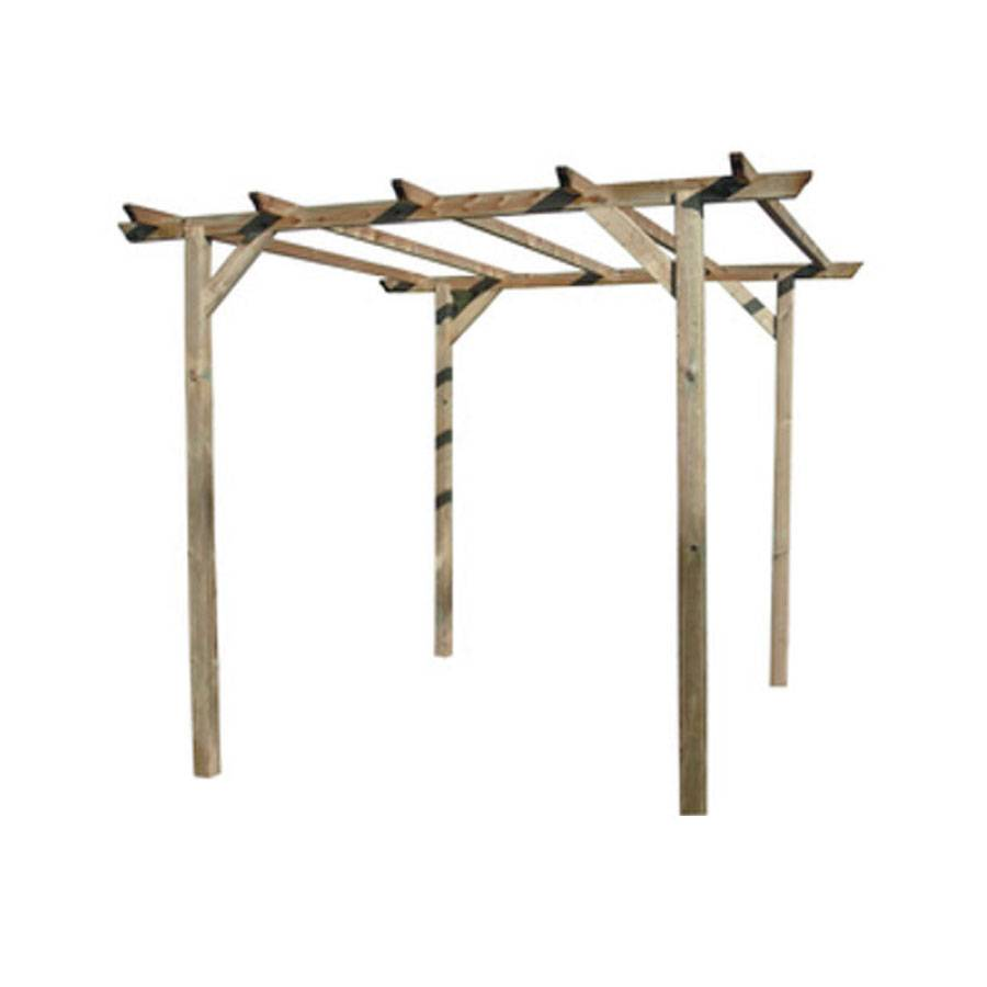 CeramicStore Pergola in legno di pino impregnato in autoclave. Dimensioni struttura cm 300x300x220h.