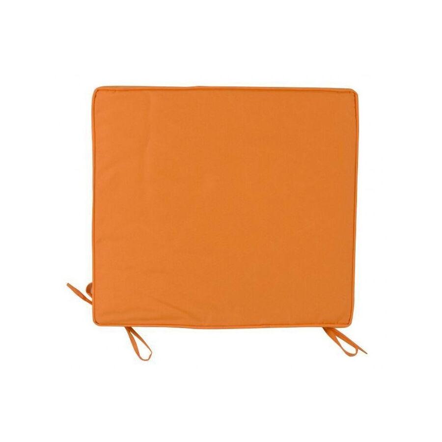 CeramicStore Cuscino 38x41 cm per sedie colore arancione con spessore 5 cm