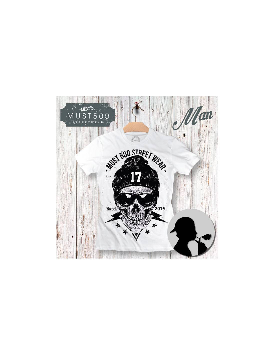 Must500 Skull 17 T-Shirt Uomo