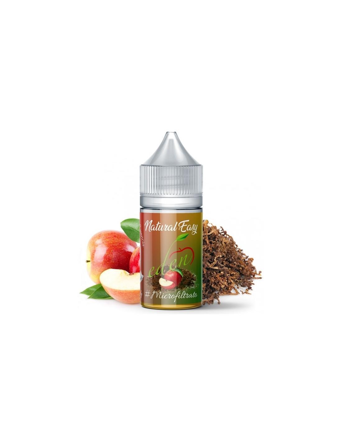 Angolo di Guancia Eden Liquido Adg Natural Easy Aroma Organico 10 Ml Tabacco E Mela