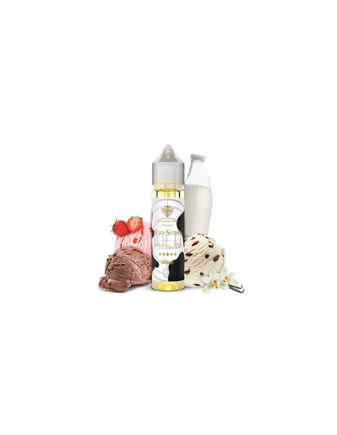 Kilo Napolitan Milk Liquido 20ml Aroma Milkshake Cioccolato Vaniglia Fragola