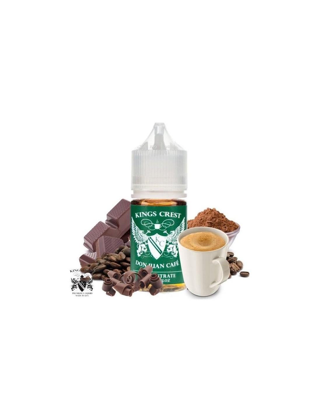 Kings Crest Don Juan Cafè Aroma Concentrato Liquido Da 30 Ml Caffè E Cioccolato