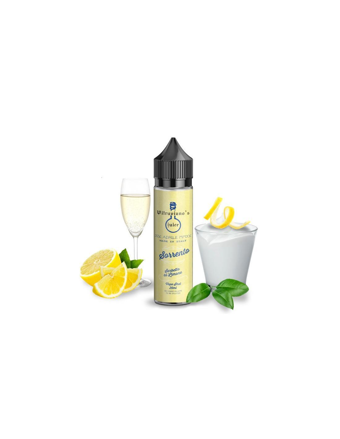 Vitruviano's Juice Sorrento Liquido 20ml Sorbetto Al Limone
