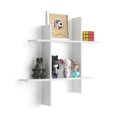 Mobili Fiver Mensole Angelica # 80x15 Bianco Frassino