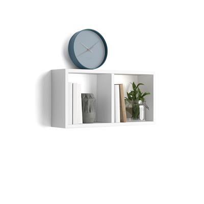Mobili Fiver Cubo da parete First, Bianco Lucido