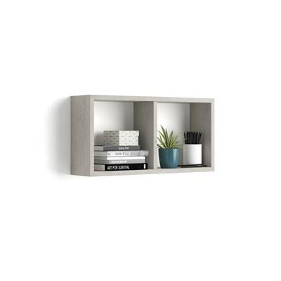 Mobili Fiver Cubo da parete First, Grigio Cemento