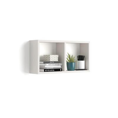Mobili Fiver Cubo da parete First, Bianco Frassino