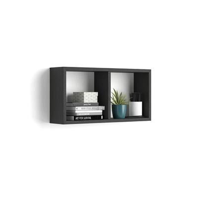 Mobili Fiver Cubo da parete First, Nero Frassino