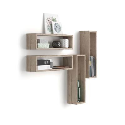 Mobili Fiver Set di 4 Cubi da parete Iacopo, Quercia