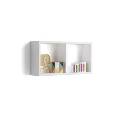 Mobili Fiver Cubo da parete First, Bianco Opaco