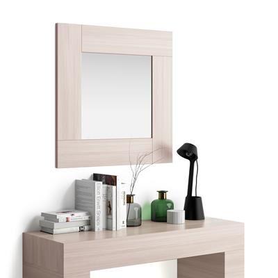 Mobili Fiver Specchiera quadrata, cornice Olmo Perla, Evolution