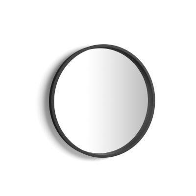 Mobili Fiver Specchio rotondo Olivia, diametro 64, Nero Frassino