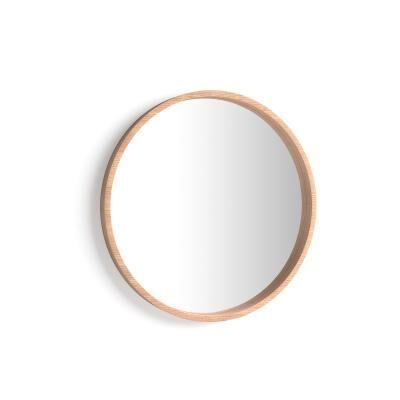 Mobili Fiver Specchio rotondo Olivia, diametro 64, Rovere Rustico