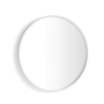 Mobili Fiver Specchio rotondo Olivia, diametro 82, Bianco Frassino