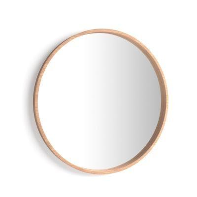 Mobili Fiver Specchio rotondo Olivia, diametro 82, Rovere Rustico
