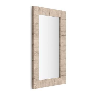 Mobili Fiver Specchiera rettangolare, cornice Quercia, Giuditta 110x65