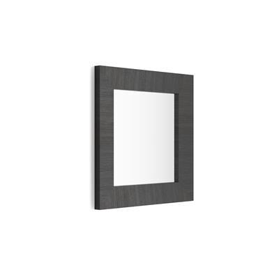 Mobili Fiver Specchiera quadrata, cornice Nero Frassino, Giuditta 65x65