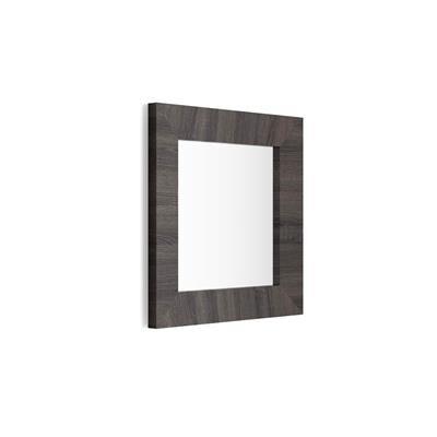 Mobili Fiver Specchiera quadrata, cornice Rovere Moro Wenge, Giuditta 65x65