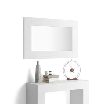 Mobili Fiver Specchiera Rettangolare Evolution, Bianco Frassino