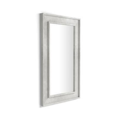 Mobili Fiver Specchiera Angelica da parete, 112x67 cm, Grigio Cemento