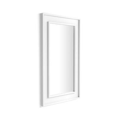 Mobili Fiver Specchiera Angelica da parete, 112x67 cm, Bianco Frassino