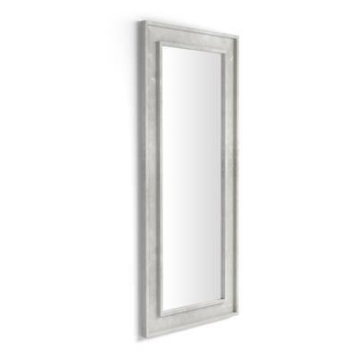 Mobili Fiver Specchiera Angelica da terra e parete, 160x67 cm, Grigio Cemento
