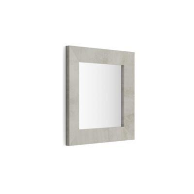 Mobili Fiver Specchiera quadrata, cornice Cemento, Giuditta 65x65
