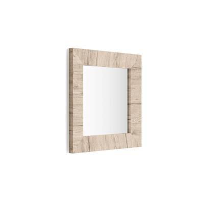 Mobili Fiver Specchiera quadrata, cornice Quercia, Giuditta 65x65
