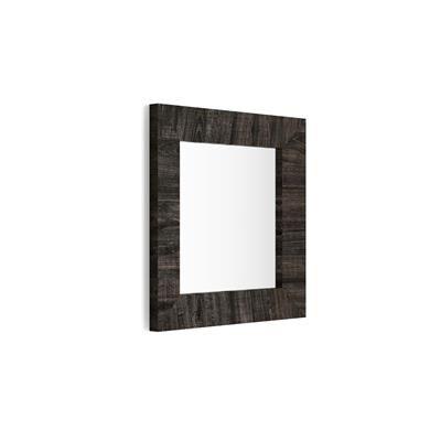 Mobili Fiver Specchiera quadrata, cornice Rovere Scuro, Giuditta 65x65
