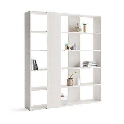 Mobili Fiver Libreria Moderna Rachele, Bianco Frassino