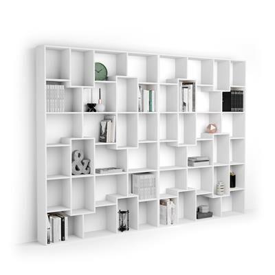 Mobili Fiver Libreria XL Iacopo, Bianco Frassino