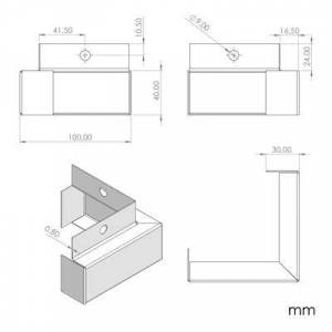 Mobili Fiver Set 4 Piedini per Tavolino, iCube, in Acciaio INOX
